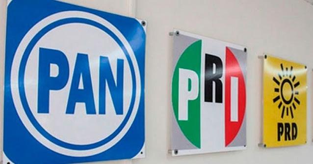 PAN, PRD y PRI confirman acuerdo para postular candidatos comunes a la Cámara de Diputados