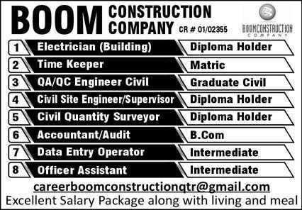 Boom Construction Company Jobs