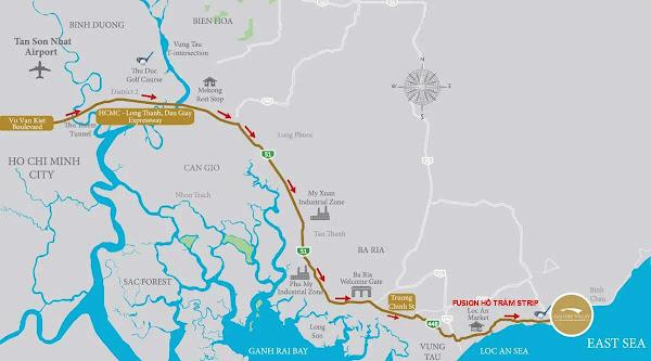 vị trí dự án ixora hồ tràm xem trên bản đồ