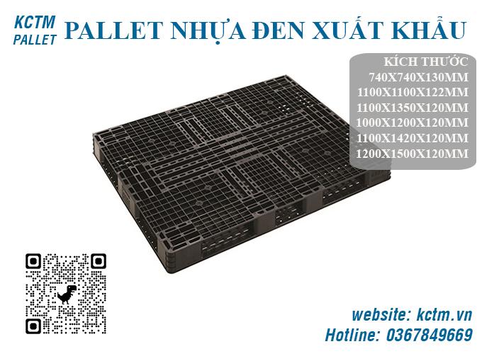 KCTM Pallet báo giá sỉ Pallet nhựa đen giá rẻ xuất khẩu