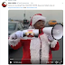 Lmao: Drama As Teni Makanaki hits the street of Lagos in Father Christmas outfit to Advertise THIS [Video]