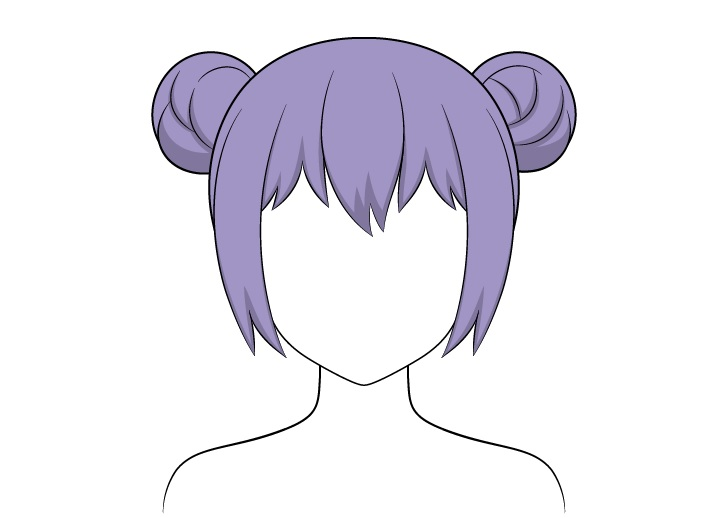 Shading roti rambut anime