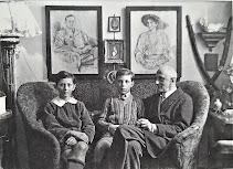 Rodzina Roztworowskic w pałacu w Czarkowach