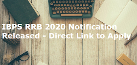 IBPS RRB 2020 Notification Released - Direct Link to Apply
