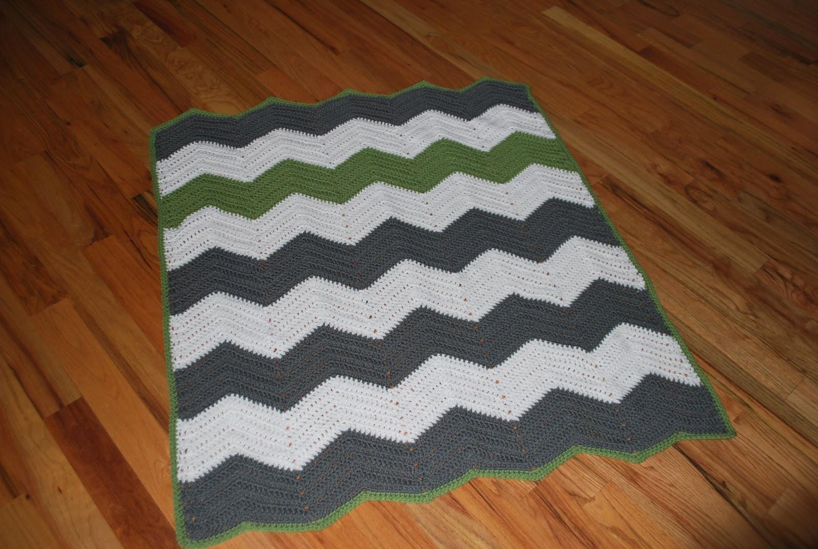 Creative Highs: Crochet Chevron Blanket Free Pattern
