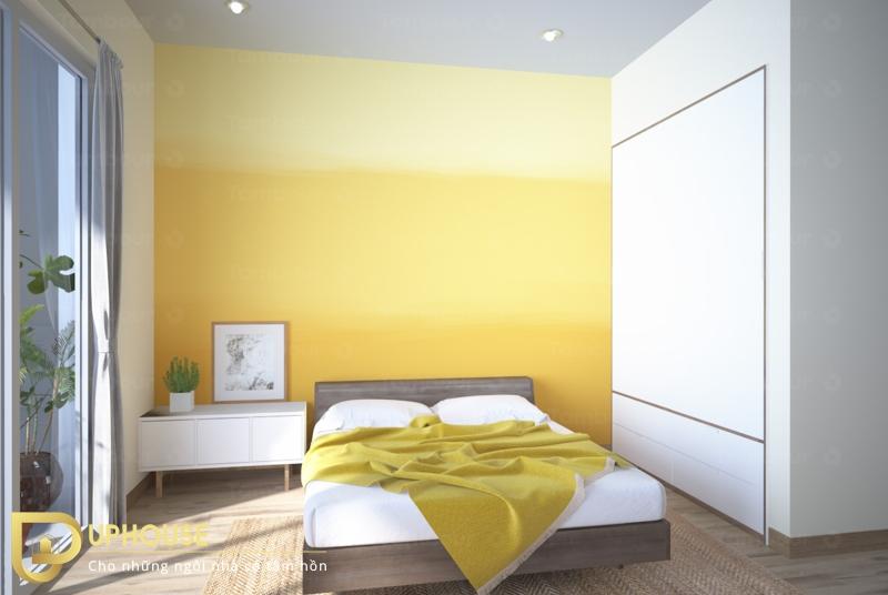 Phòng ngủ màu vàng nhạt 10