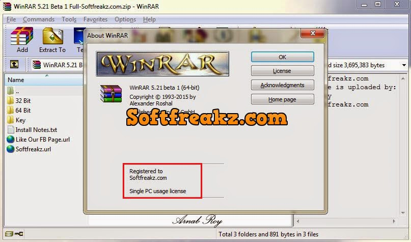 WinRAR 5 21 Beta 1 Full With Key | Softfreakz