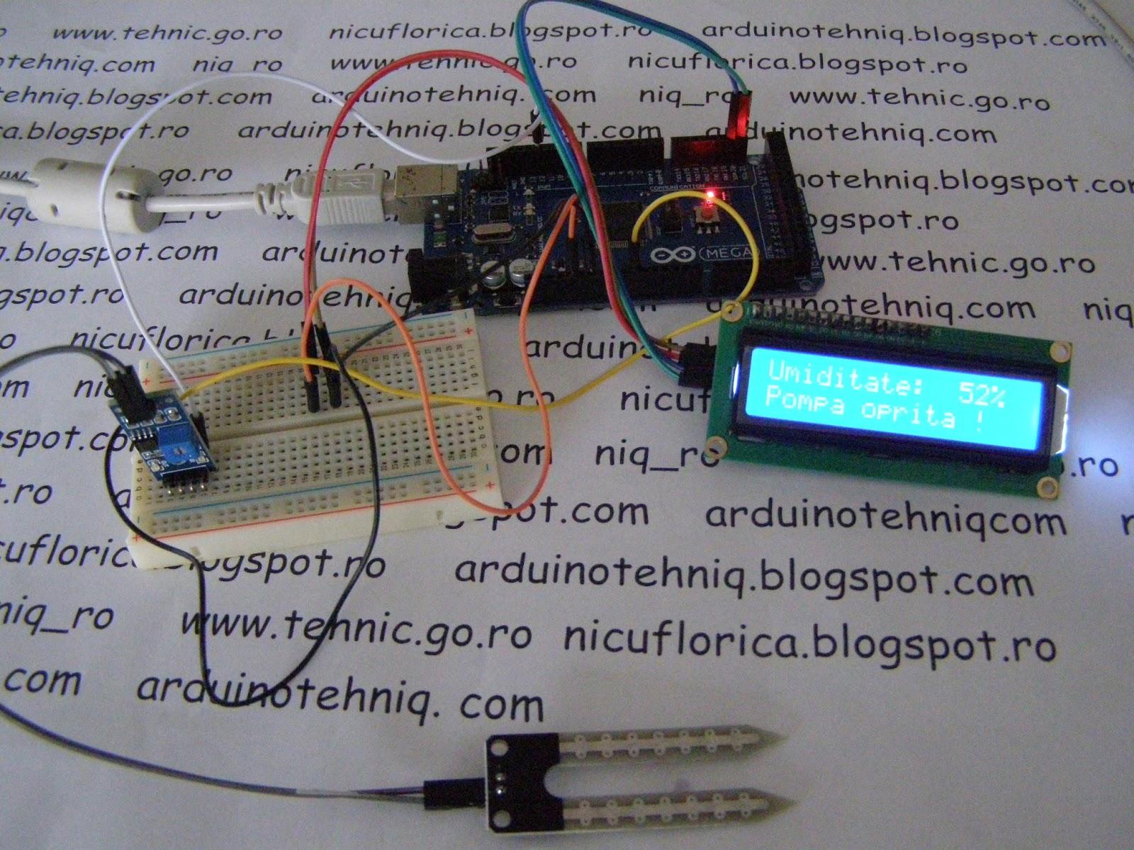 Nicu Florica Niq Ro Iunie 2016 Circuit Pic16f628 Rf Remote Buton 433mhz Button Se Intrerupe Alimentarea Senzorului Si Afiseaza Valoarea Umiditatii Starea Pompei