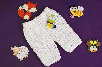 6 - Crochet Imagen Pantalones a crochet del conjunto blanco por Majovel Crochet