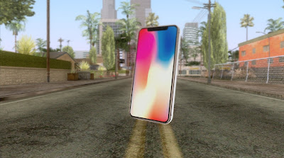 Download mod mobile celular iPhone X White para GTA San Andreas, GTA SA jogo PC