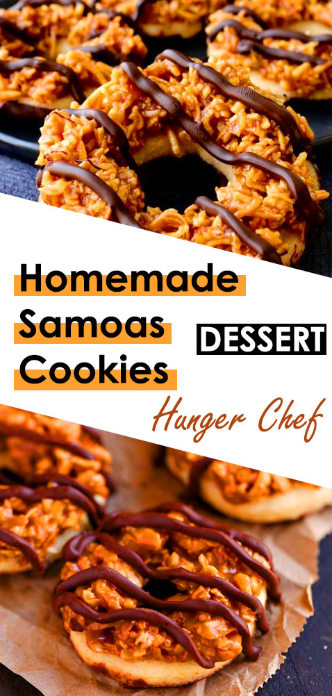 Homemade Samoas Cookies - How to Make Homemade Samoas Cookies: Step-by-Step. Follow these steps to make your very own homemade version of the classic Samoas cookies, so you can enjoy them ANY time of the year! #homemade #recipes #samoas #cookies #homemadesamoas #samoascookies
