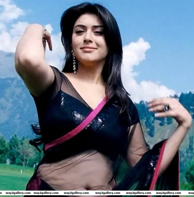 hansika motwani in saree hot images