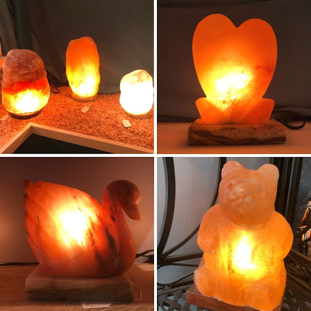 Beautiful salt lamps from North Shore Salt Therapy add art and therapeutic properties to the home!