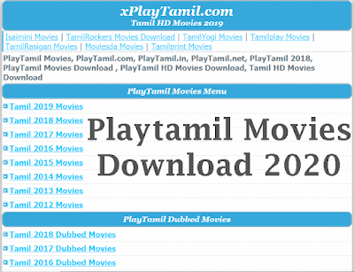 Playtamil Movies Download 2020- Playtamil HD
