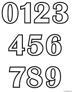 moldes de números para imprimir como fazer