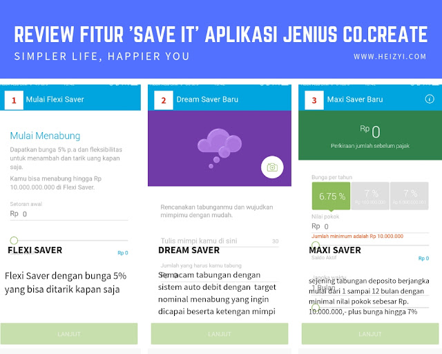 Review Fitur Save It Aplikasi Jenius Co Create BTPN