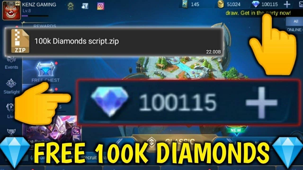 Script 100.000 Diamond Mobile Legends Gratis Patch Terbaru 2020