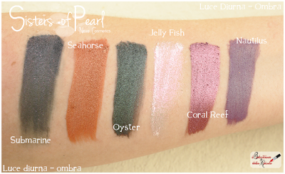 eyeshadow swatches Sisters Of Pearl  Neve Cosmetics
