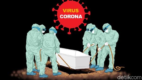 Detik-detik Jenazah PDP Corona di Sumsel Jatuh Saat akan Dikuburkan