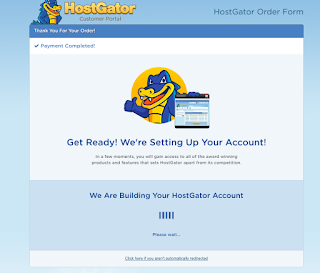 Start own WordPress blog with HostGator in 2020 - Processing Your Order