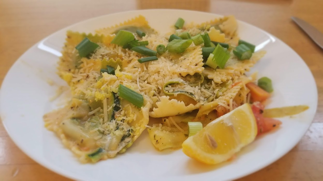 HelloFresh Garden Spinach Ravioli with lemon cream sauce