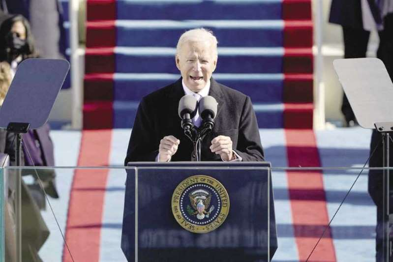 Biden after his inauguration as President of the United States: We will return to global leadership