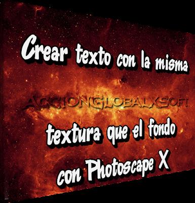Texto con la textura de fondo usando Photoscape X