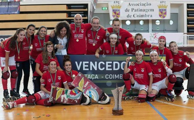 Benfica vencedor da Supertaça de Hóquei em Patins Feminino 2019