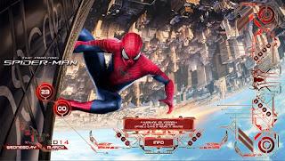 ثيم سبيدر مان الرائع The Amazing Spiderman  وهو كما نرى بالصورة يقوم باضهار سطح المكتب بطريقة شيقة وبمؤثرات جذابة