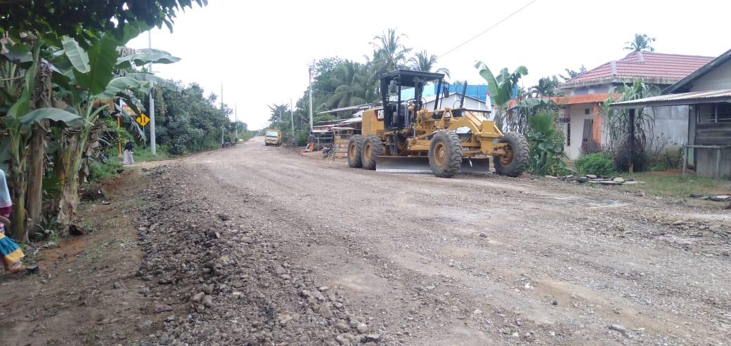 Dibangun Sepanjang 150 Meter, Jalan Sabak Ulu di Rigid Beton