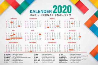 download kalender 2020 (cdr, psd, png, jpg) gratis