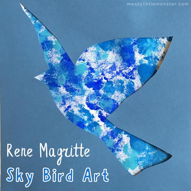 Bird Template for Rene Magritte Bird Art Project