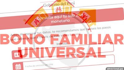 Segundo Bono Universal: cronograma, fecha de pago y cómo cobrar subsidio de 760 soles