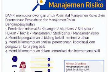 Lowongan Kerja Bandung Staff Manajemen Resiko