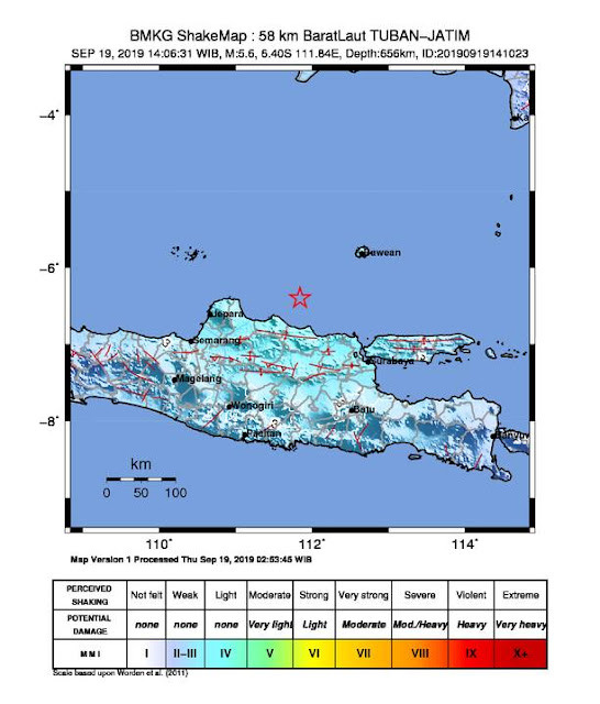 gempa tuban 19 september 2019
