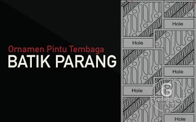 BATIK PARANG - Ornamen Pintu Motif Batik Tembaga