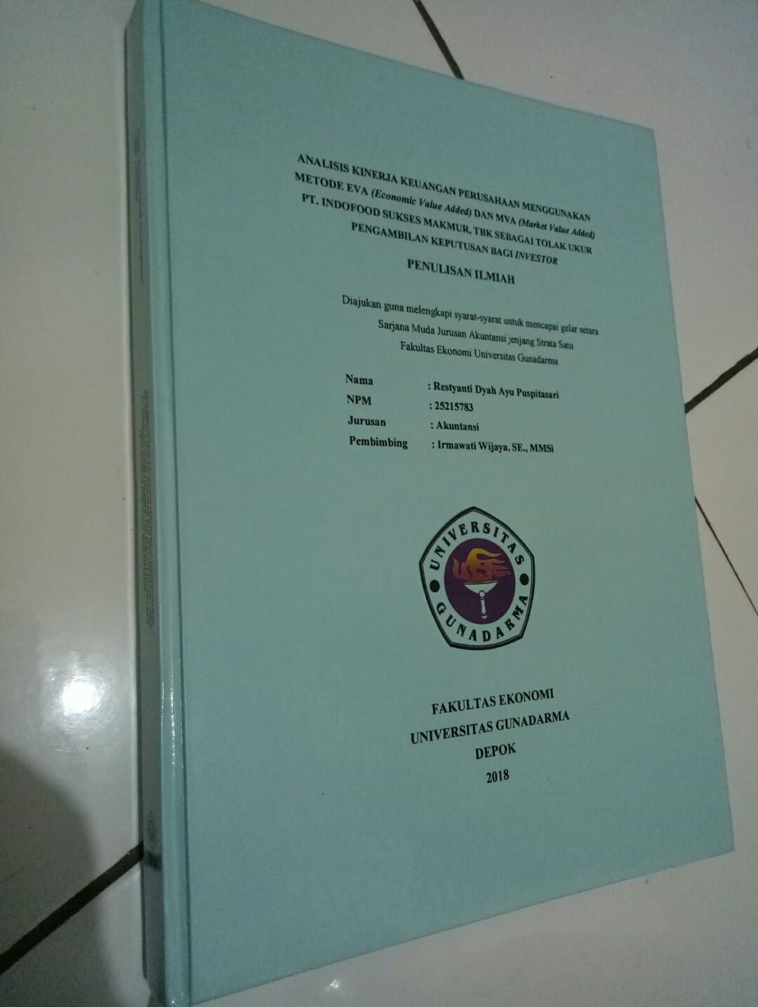 Hardcover Skripsi Gunadarma Ide Judul Skripsi Universitas