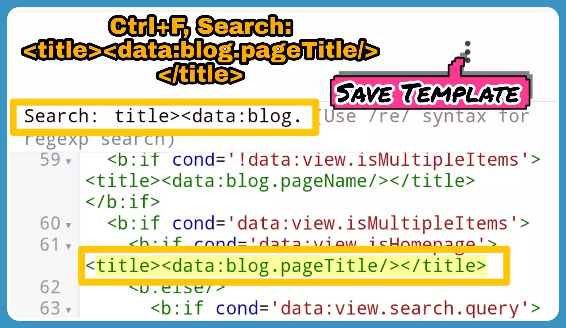 How to Remove Blog Name From Post Title Tag in Blogger