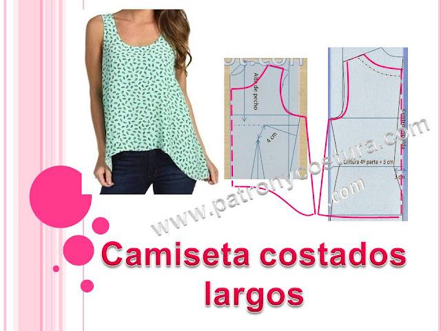 http://www.patronycostura.com/2016/07/camiseta-con-los-costados-largos-tema.html