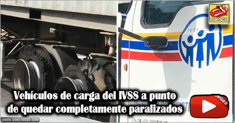 Vehículos de carga del IVSS a punto de quedar completamente paralizados