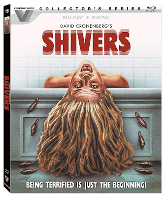 Cover art for the Vestron Video Collector's Series Blu-ray release of David Cronenberg's SHIVERS!