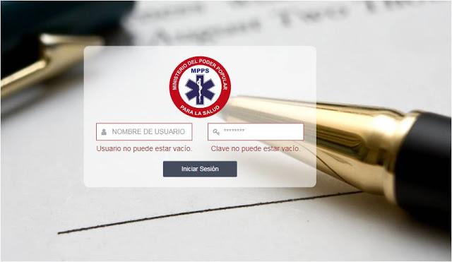 SIGEDOLE:  Sistema Emisor de Recibos de Pago Ministerio del Poder Popular para la Salud