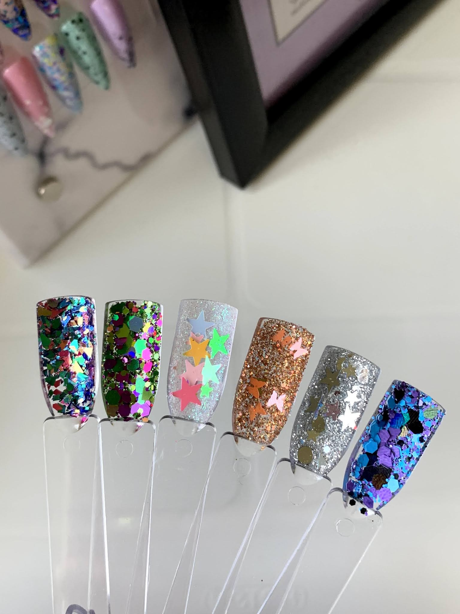 SSUK Glitter swatches of their April VIP box