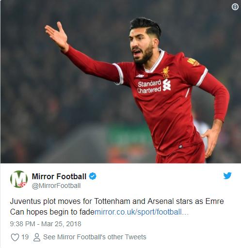 Mirror Football Emre Can