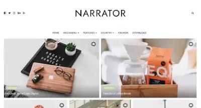 Narrator Blogger Template