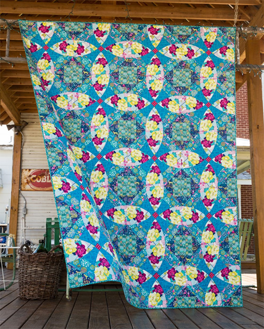 Zen Garden Quilt Free Pattern Designed by Stacey Day of Stacey in Stitches for Free Spirit Fabric, featuring Splendor by Amy Butler