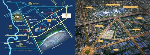 Vị trí dự án Century City Long Thành Đồng Nai