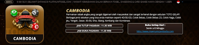 Togel Cambodia di platinumtogel