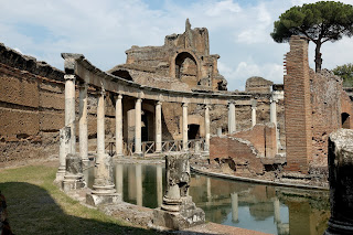 The Maritime Theatre in the remains of the Villa Adriana, a UNESCO world heritage site at Tivoli