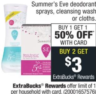 Summer's Eve Cleansing Cloths